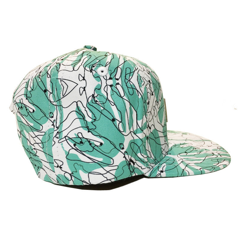 Palm Print Cap Side