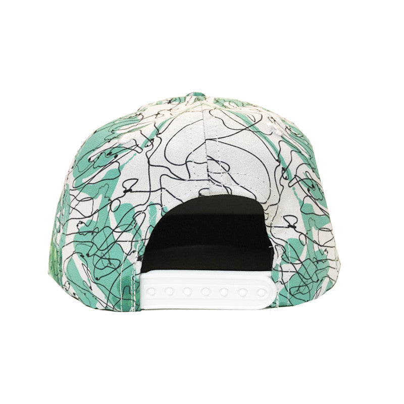 Palm Print Cap Back