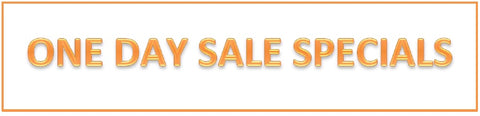 **One Day Sale Specials!