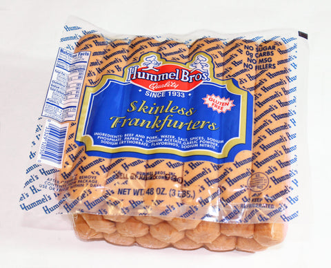 *Hummel Bros  3lb Skinless Franks  $14.99     Sale price $10.99