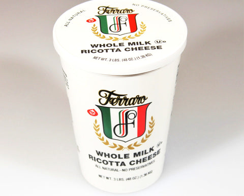 *Ferraro Ricotta Cheese  $4.99   Sale Price $3.99