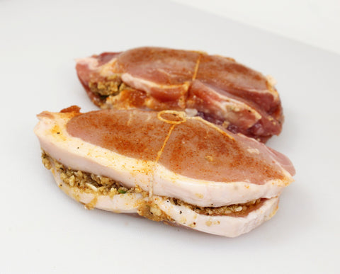 ***Stuffed Boneless Pork Chops  $5.99lb Sale $3.98lb