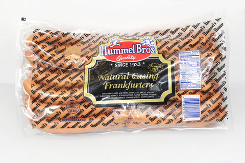 Hummel Brothers  5lb Natural Casing Franks       $25.99