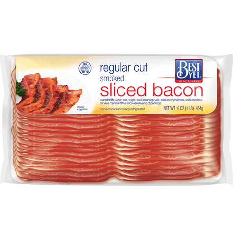 Best Yet 1lb Sliced Bacon     $5.99