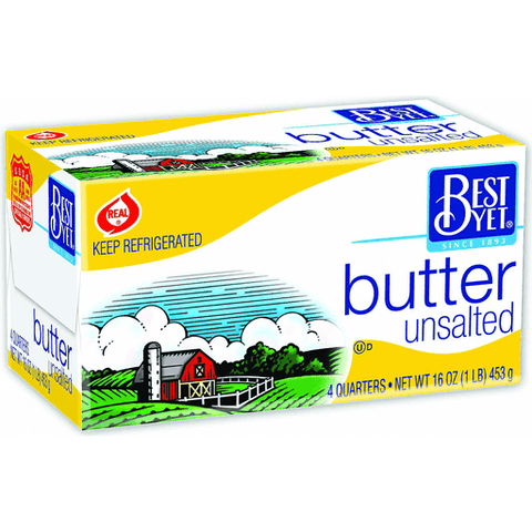 Best Yet 16oz Butter 1/4's  $5.39