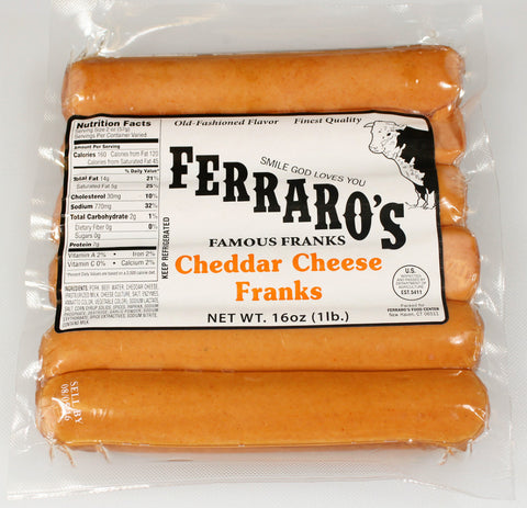 Ferraro's 1lb Cheese Franks  $5.49