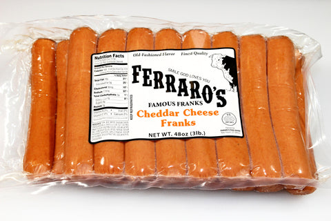 Ferraro's 3lb Cheese Franks    $13.99
