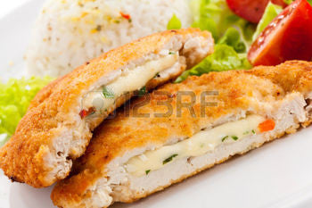 *Breaded Stuffed Chicken Cutlets  $6.99lb    Sale Price $4.99lb