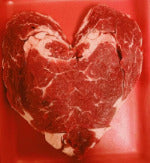 A Sweetheart Steak Heart-Shaped Rib eye steak $8.99lb