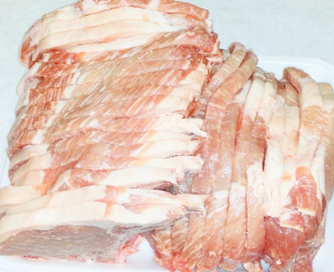 Whole Pork Loin - Bone in  Aproximately 13 pounds   $2.79lb