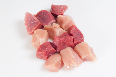 Chicken Kabob Cubes   $4.99lb