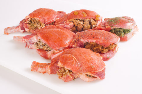 Stuffed Bone-in Pork Chops     $4.99lb