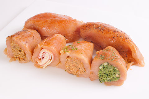 ***Stuffed Boneless & Skinless Chicken Breast  $5.99lb  Sale $3.99lb