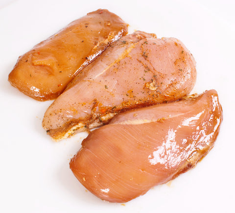 Marinated Boneless & Skinless Chicken Breast    $3.99lb