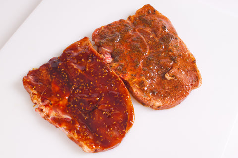 Marinated Pork Loin Chops $3.49lb Approximately 2 pounds