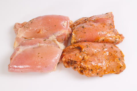***Marinated Boneless & Skinless Chicken Thighs   $4.99lb  Sale $3.49lb