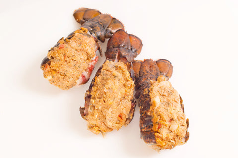 Seafood Stuffed 4oz Lobster Tails  $23.99lb