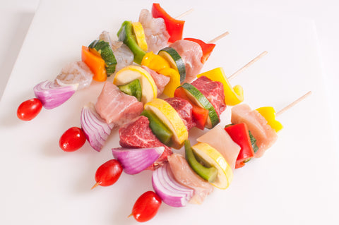 Pork Kabobs  $6.99lb - $7.99lb   Approximately 2 Kabobs