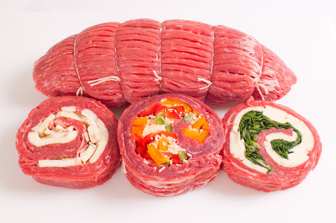 *Boneless Beef Pinwheel Steaks    $7.99lb Approximately 2 steaks     Sale Price $5.99lb
