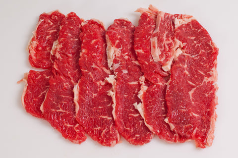 **Boneless Beef Open-Faced Rib Eye Steaks  $8.99lb