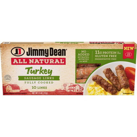 Jimmy dean all Natural Turkey Sausage Links 7.5oz