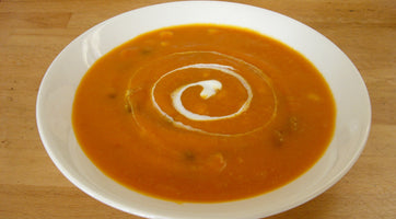 Roasted Red Squash Soup (Mexican inspired!)