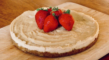 Creamy Cashew and Strawberry Slice  Raw, Seasonal, Vegan and Very Delicious!