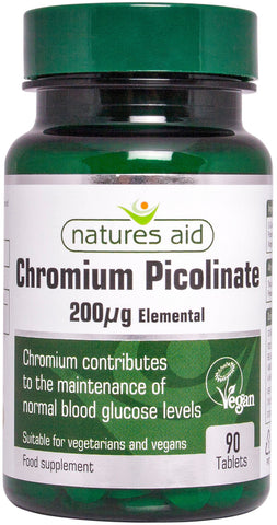 Nature's Aid Chromium Picolinate 200ug