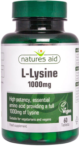 Nature's Aid Lysine 1000mg