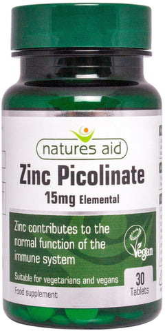 Nature's Aid Zinc Picolinate 15mg