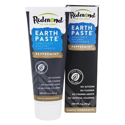 Redmond Earth Paste Toothpaste Peppermint With Activated Charcoal