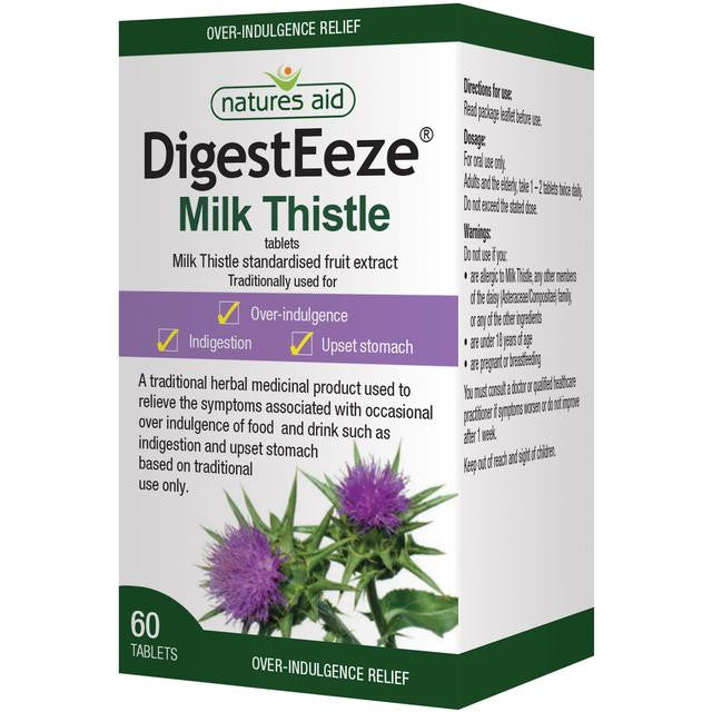 Nature's Aid Digesteeze Milk Thistle Extract Tablets