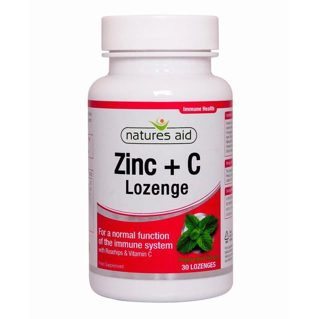 Nature's Aid Zinc Lozenges with Rosehip and Vitamin C