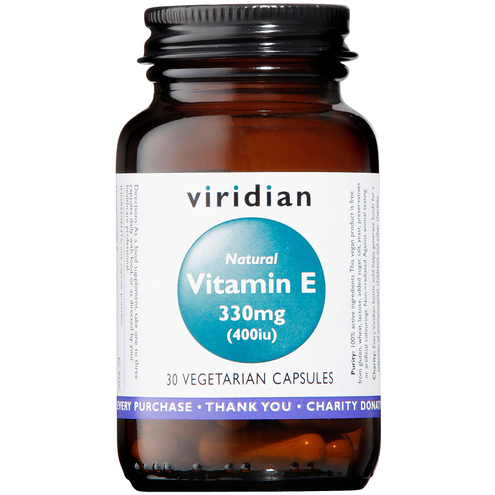 Viridian Natural Vitamin E 330mg (400iu)