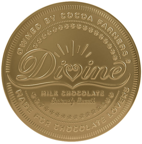 Divine Giant Milk Chocolate Coin