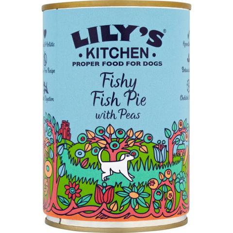 Lily's Dog Food Fishy Fish Pie With Peas