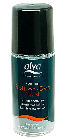 Alva Crystal-Deodorant For Him Roll On