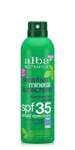 Alba Sensitive Mineral Sunscreen Spray SPF35