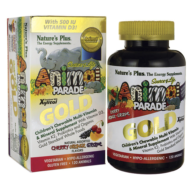 Natures Plus Animal Parade Gold Assorted Multivitamin & Mineral