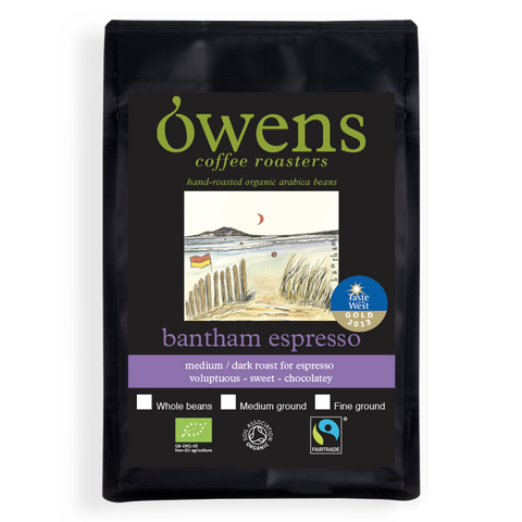 Owens Organic Bantham Espresso Fine Ground Coffee