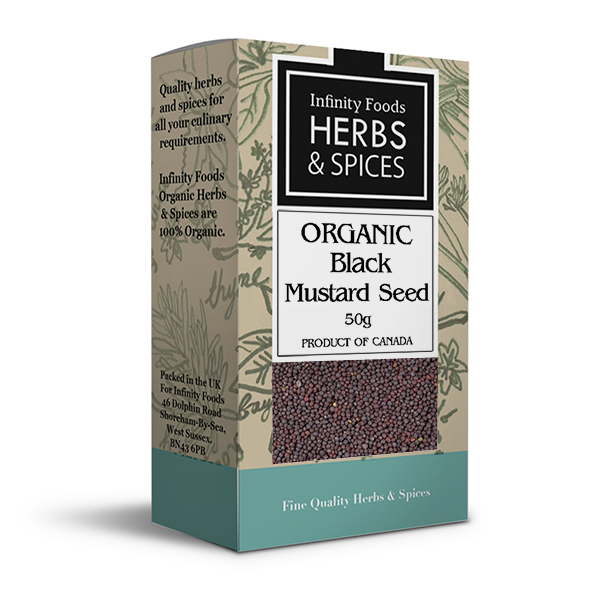 Infinity Herbs & Spices Organic Mustard Seed (Black)