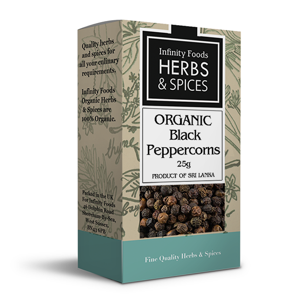 Infinity Herbs & Spices Organic Peppercorns (Black)