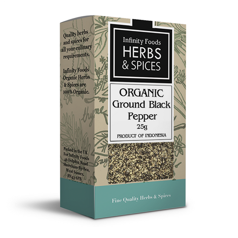 Infinity Herbs & Spices Organic Black Pepper (Ground)