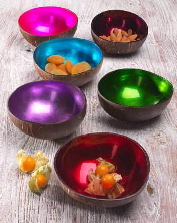 Namaste Coconut Shell Lacquered Bowl