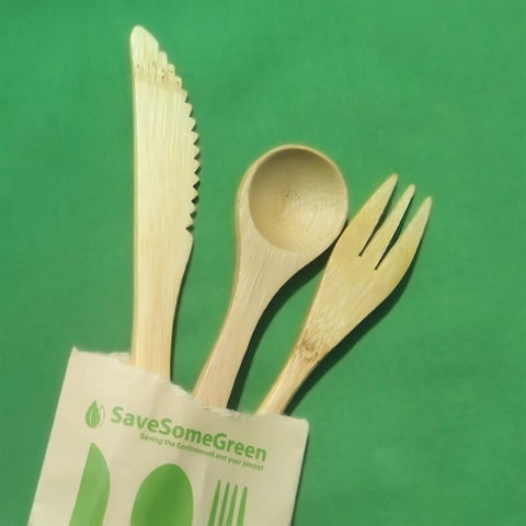 SaveSomeGreen Bamboo Cutlery for Kids