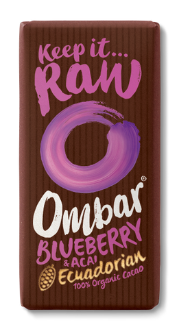 Ombar Organic Raw Chocolate - Blueberry and Acai