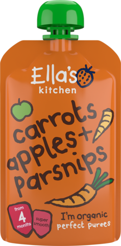 Ella's Organic Carrots, Apples & Parsnips