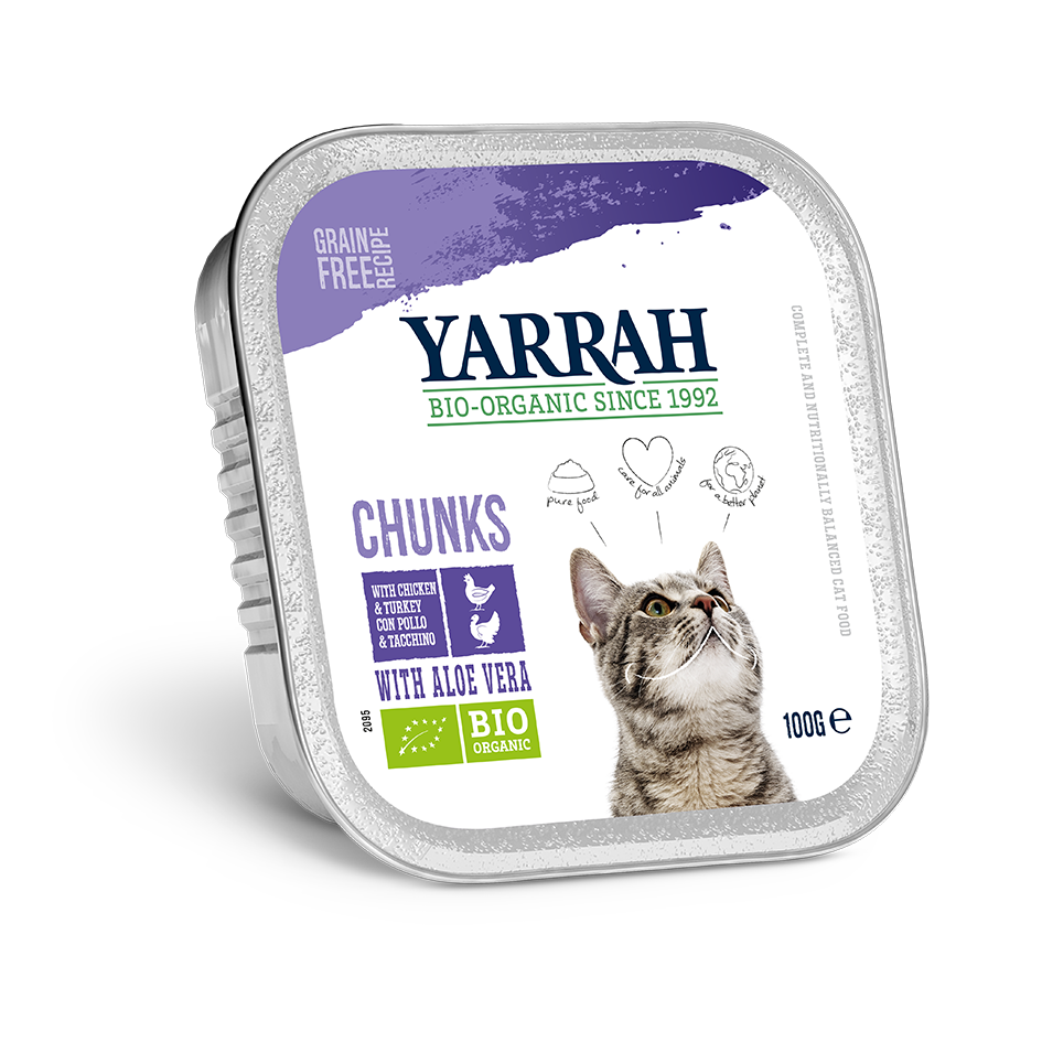 Yarrah Cat Chunks - Chicken & Turkey with Aloe Vera