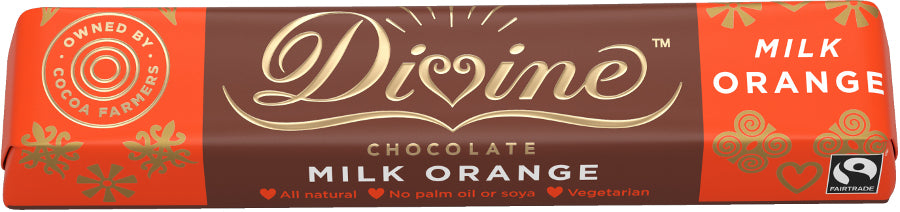 Divine Milk Orange Chocolate Bar