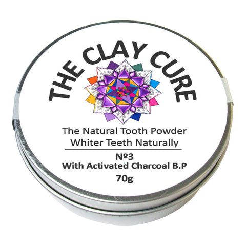 The Clay Cure Activated Charcoal Tooth Powder